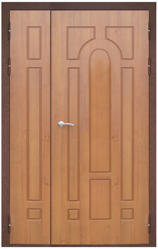 железные двери на тамбур с напылением