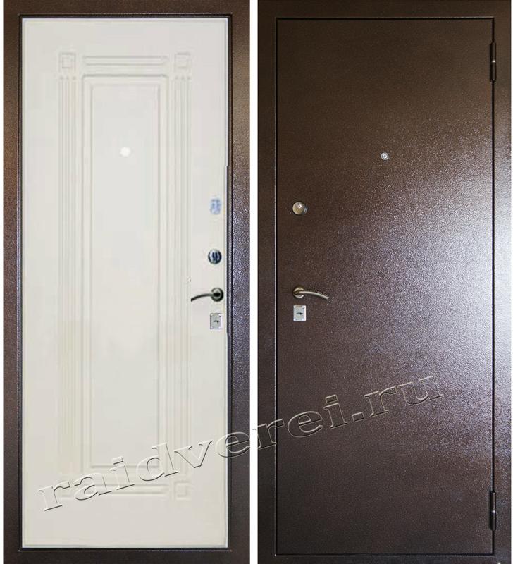 Входная металлическая дверь А-4 беленый дуб