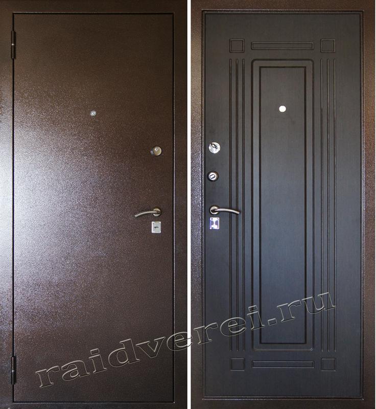 Входная металлическая дверь А-4 венге