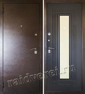 входная металлическая дверь с зеркалом и звукоизоляцией