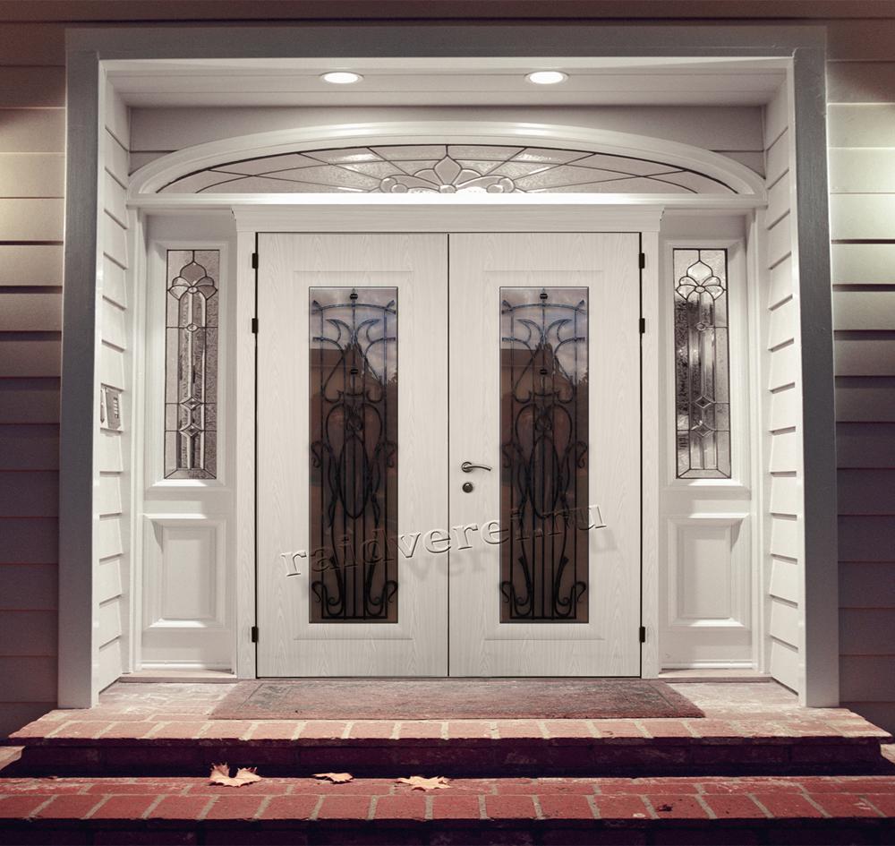 входная дверь в частный дом со стеклом цена