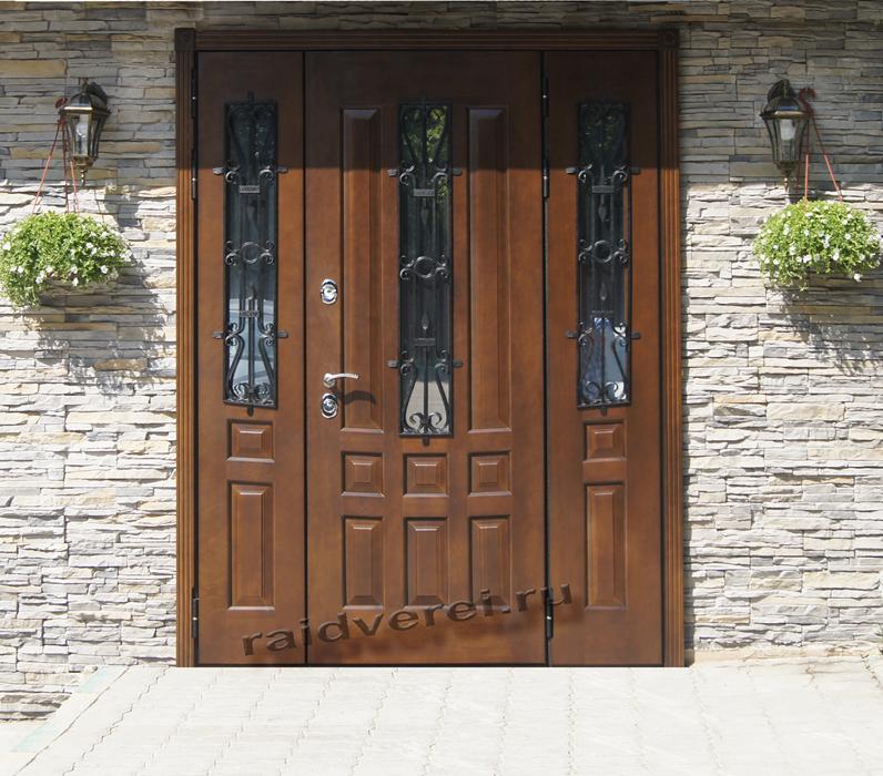 входные двери для загородных домов дуб